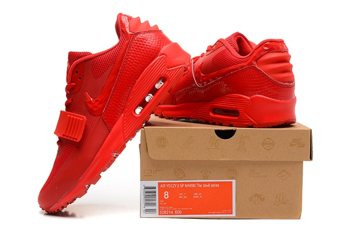 all red nike shoes