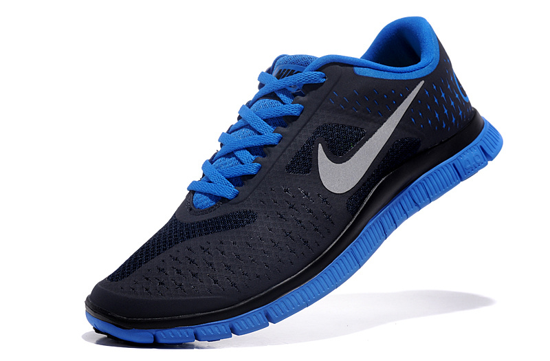 classic fit 420a9 f93f6 black and blue nike shoes
