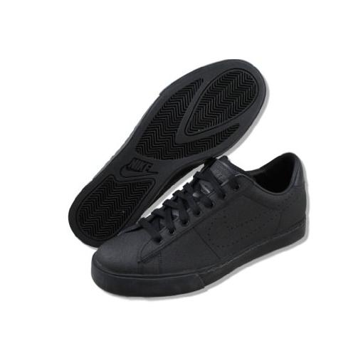 4206a0365bfa black leather nike shoes