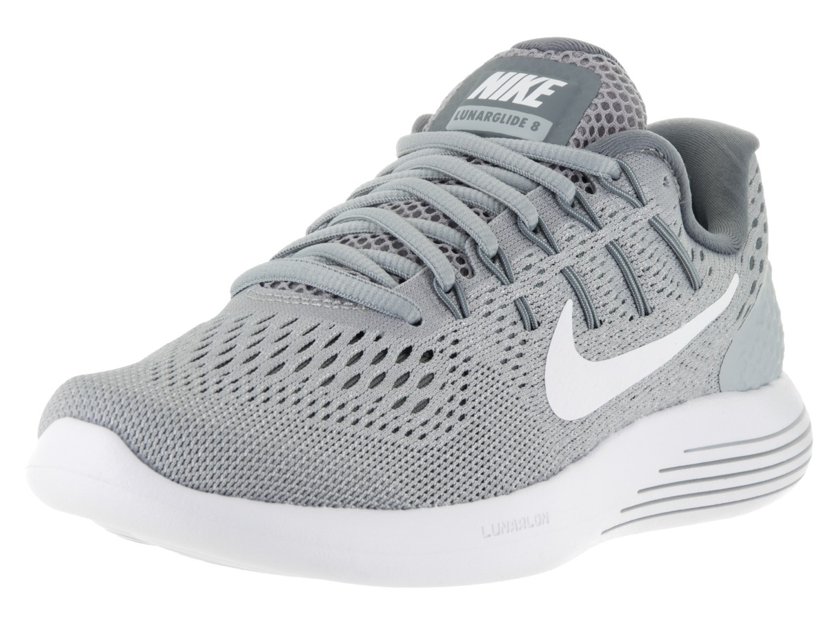 grey nike running shoes