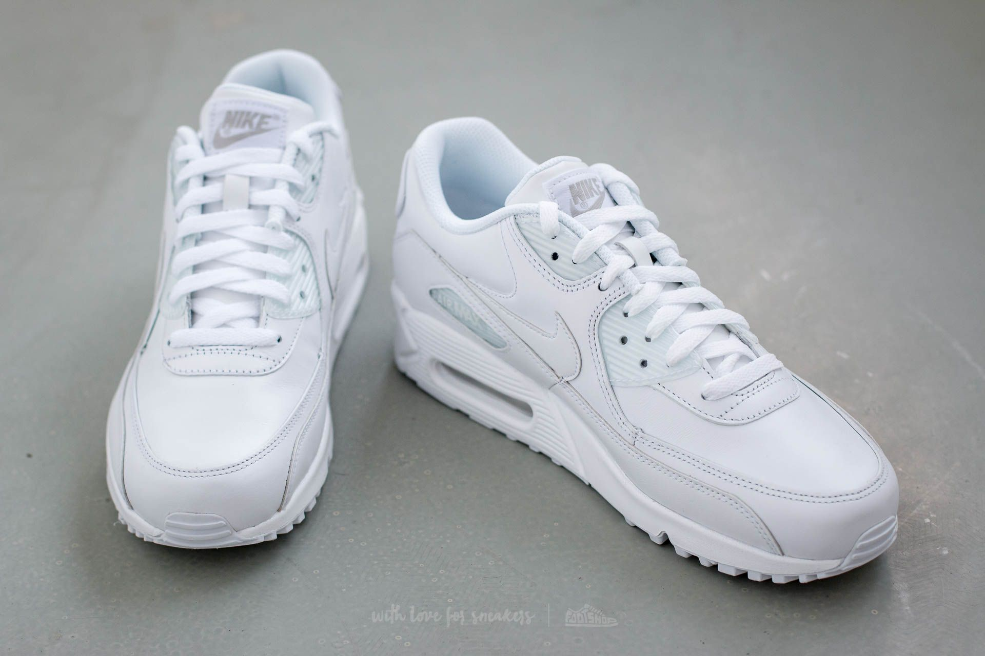 white leather air max