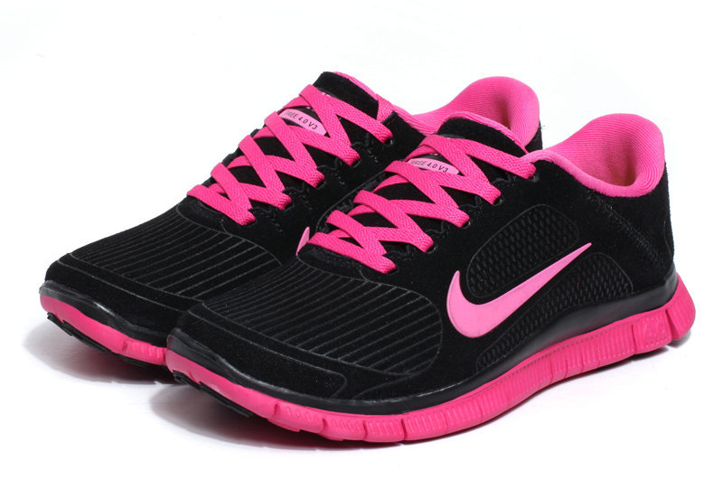 online store 27c8b 36f93 pink and black nike shoes