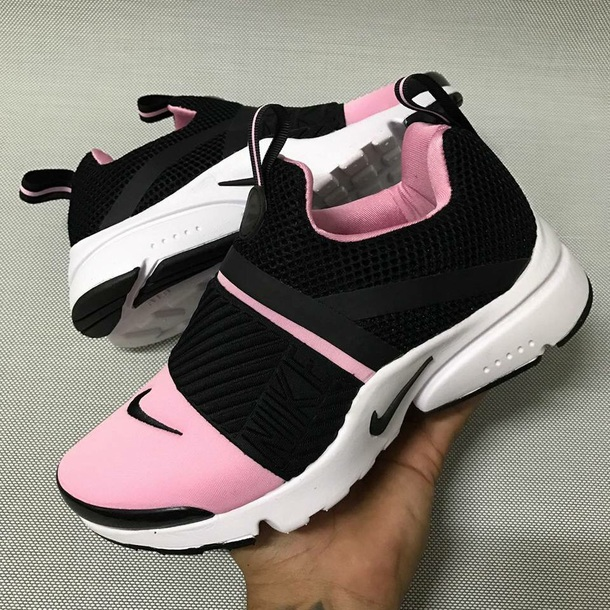 pink and black nike shoes
