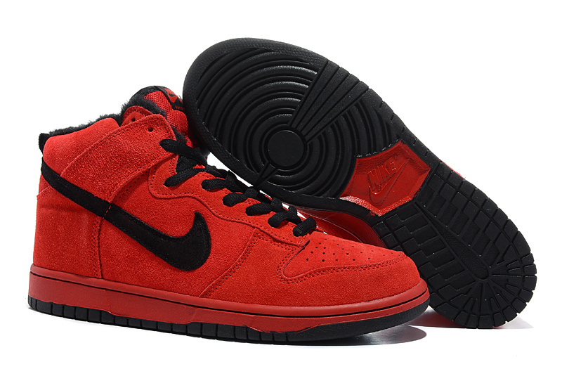 red and black nike shoes
