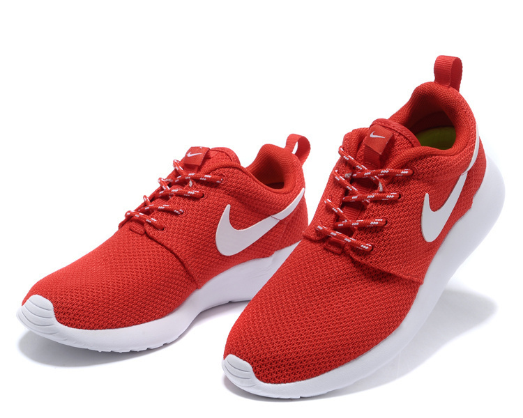 red and white nike shoes