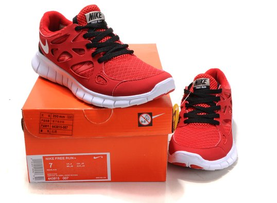red nike running shoes