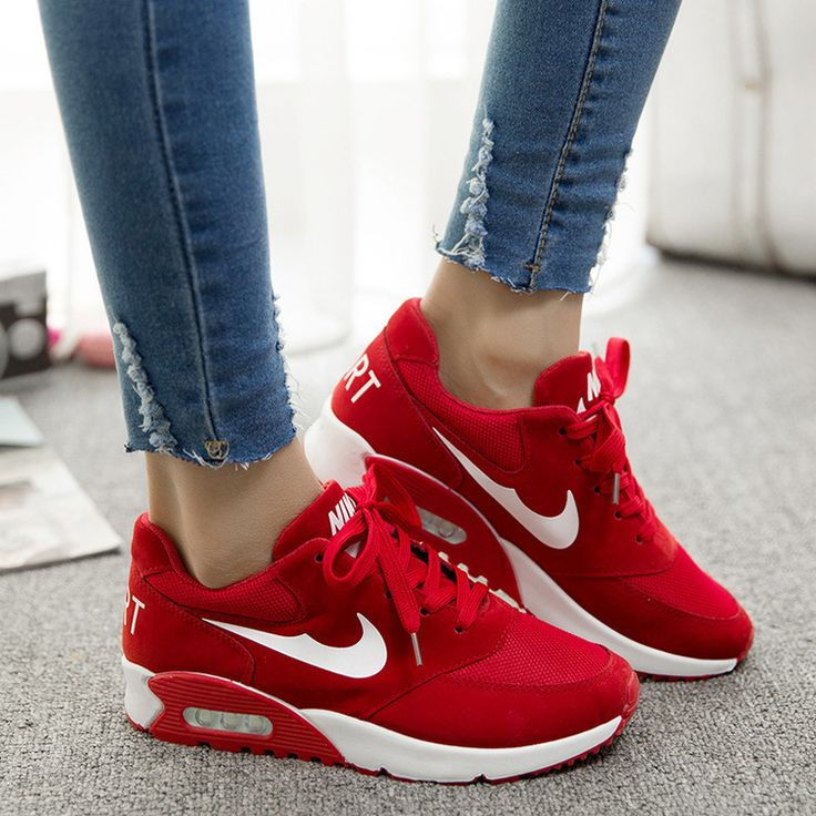 red nike sneakers womens